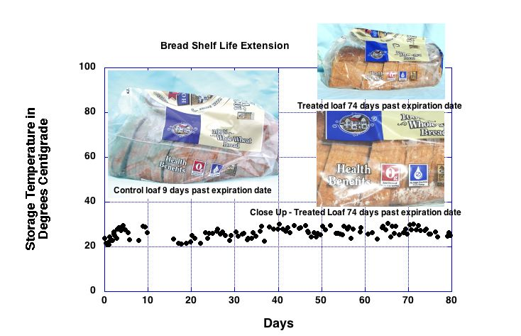 Bread Shelf Life Extension Graph